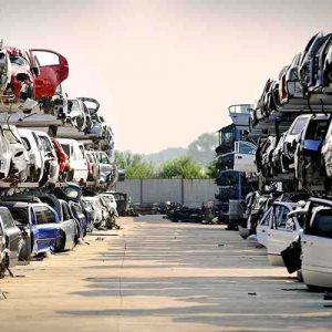 environmentally car recycling in the north east scrap yard
